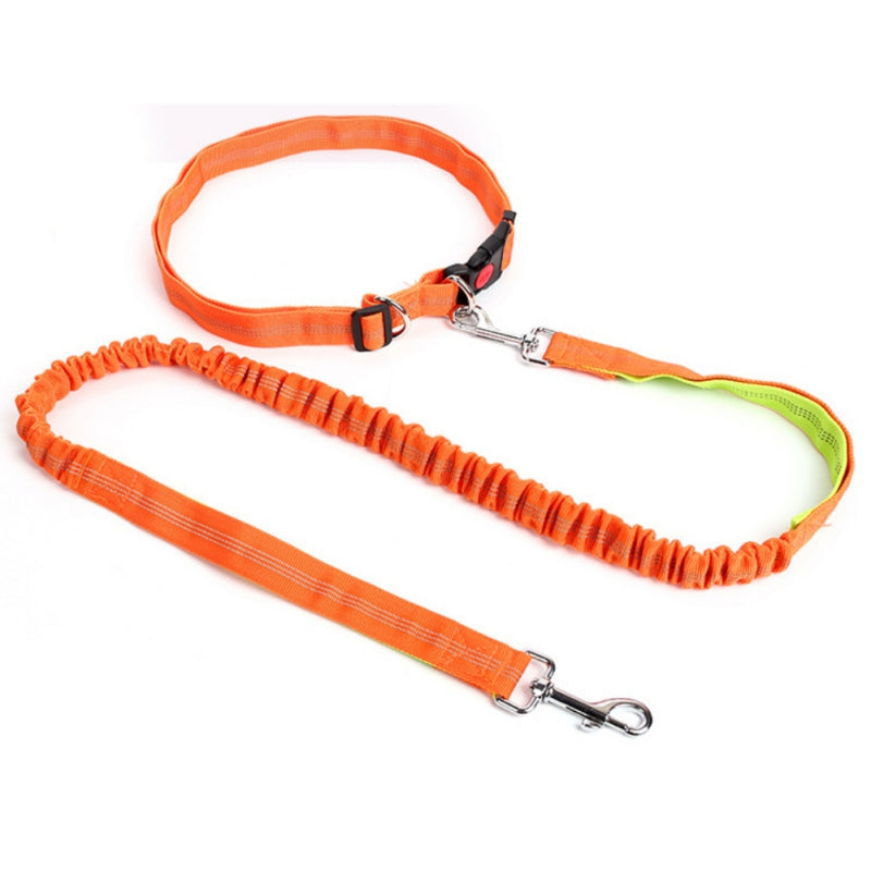 Pet Leash Hands Free Waist Belt Reflective Nylon