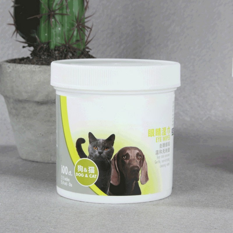 Pets Tears Wipes Non-toxic 100 Pieces