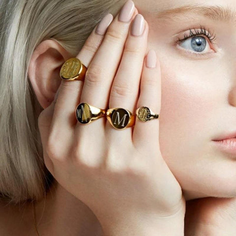 LOANYA Inititalen Ring eConcept Store - Produkte für Dich Gold 16.5