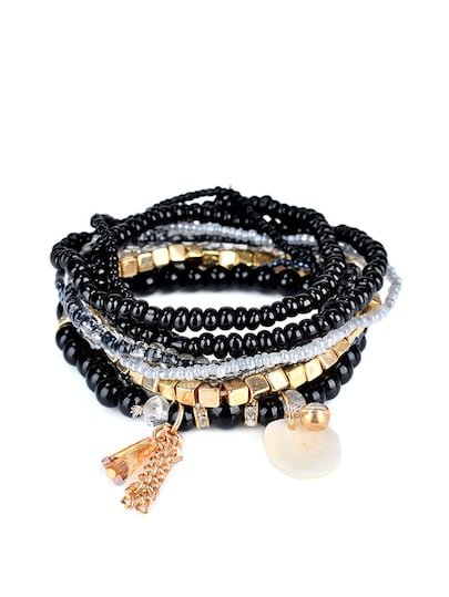 Shell Charm Layered Bracelet