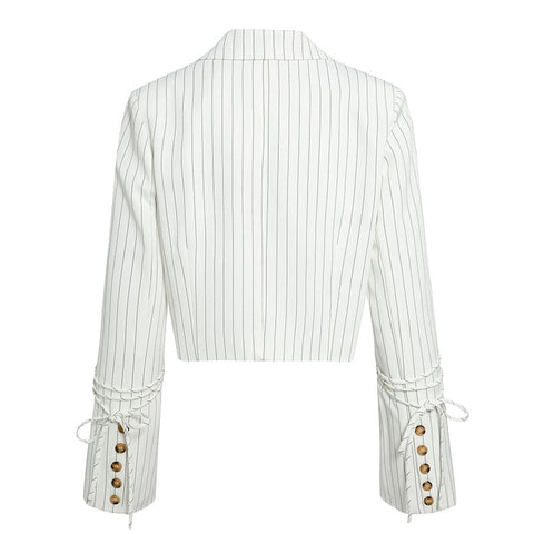 Stripe Me Down Cropped Blazer