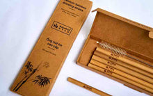 Load image into Gallery viewer, Bamboo Straw : Bamboo Straws : This is a great Wedding Gift or Anniversery Gift.