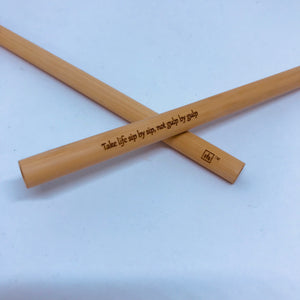 1 Year: Custom Engraved Premium Bamboo Straw Package