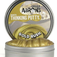 "Crazy Aaron's Magnetic-Gold Rush 4"" Large Thinking Putty"