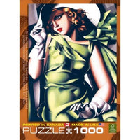 Young Girl in Green-1000 Piece Puzzle