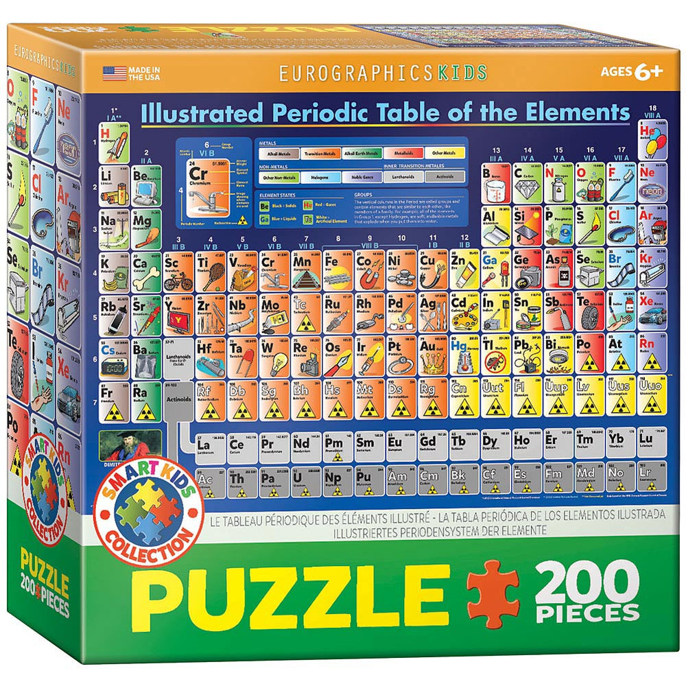 Illustrated Periodic Table of the Elements-200 Piece Puzzle