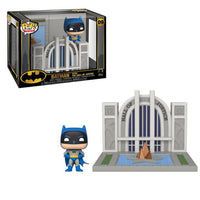 Batman with the Hall of Justice
