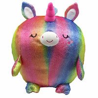 Cuddle Pals - Round Large Shiny Unicorn - Sparkler - Stuffed Animal Plush 11.5""