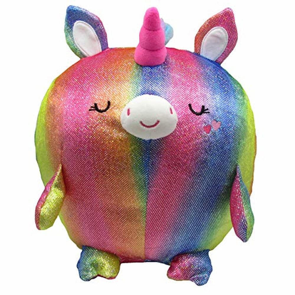 Cuddle Pals - Round Large Shiny Unicorn - Sparkler - Stuffed Animal Plush 11.5