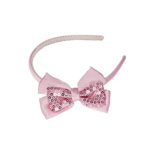 POSH PARIS SEQUINS BOW HEADBAND