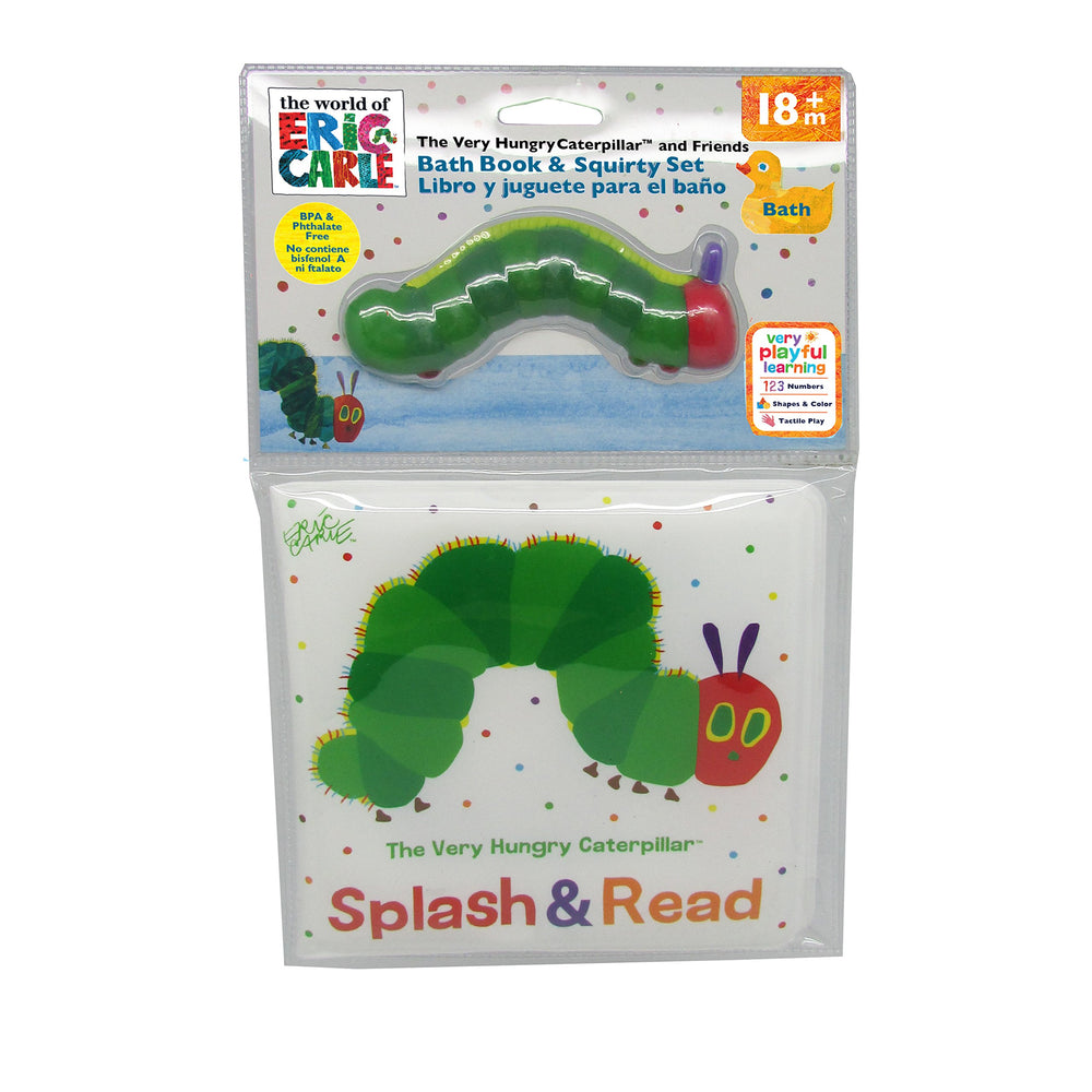 World of Eric Carle, The Very Hungry Caterpillar Bath Set, Caterpillar Book & Squirty