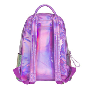PINK STRIPED GLITTER BACKPACK