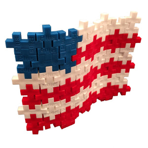 PLUS PLUS Open Play Tube - Patriotic