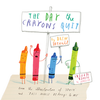 The Day the Crayons Quit Finger Puppet Playset Book