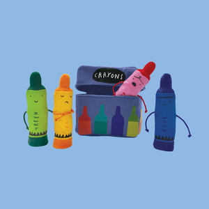The Day the Crayons Quit Finger Puppet Playset Plush