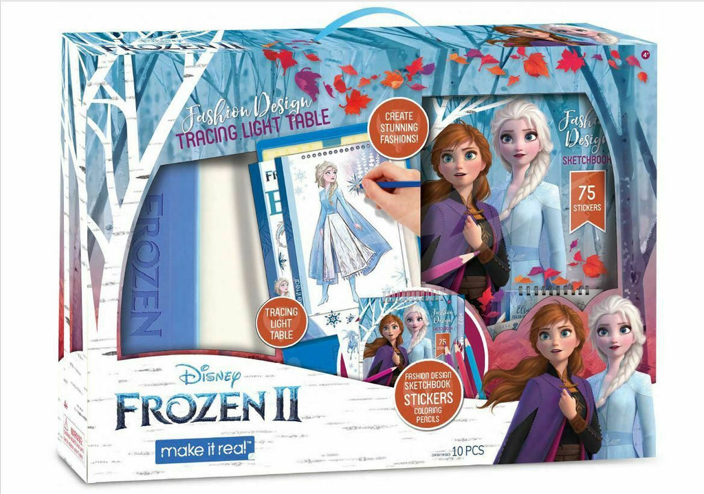 Make It Real Disney Frozen 2 Fashion Design Tracing Light Table Set Emmerson Toys Gifts Hobbies