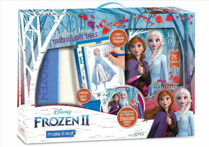 Make It Real Disney Frozen 2 Fashion Design Tracing Light Table Set