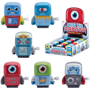 Mini Tin Wind Up Robots
