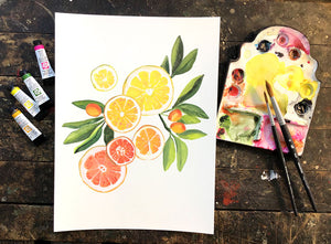 Citrus Gouache Painting Friday, May 14, 2021 7pm