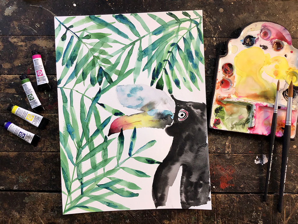 Toucan Painting Class, Friday, April 23, 2021 7pm