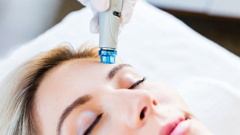 HydraFacial of woman's face for clearer skin