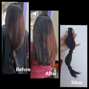 One of our staff members donated 30cm of hair to the Little Princess Trust