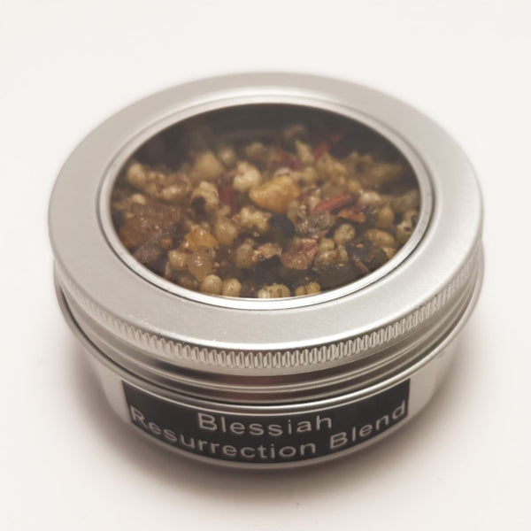 25g Round Tin Incense Church Resin to Burn on Charcoal | Choose your Resin Blessiah RESURRECTION BLEND Blessiah Resin Blessiah