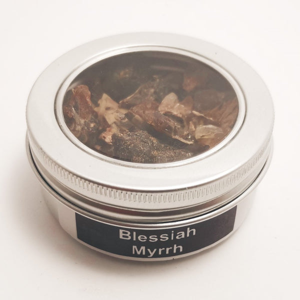 25g Round Tin Incense Church Resin to Burn on Charcoal | Choose your Resin Blessiah MYRRH Blessiah Resin Blessiah