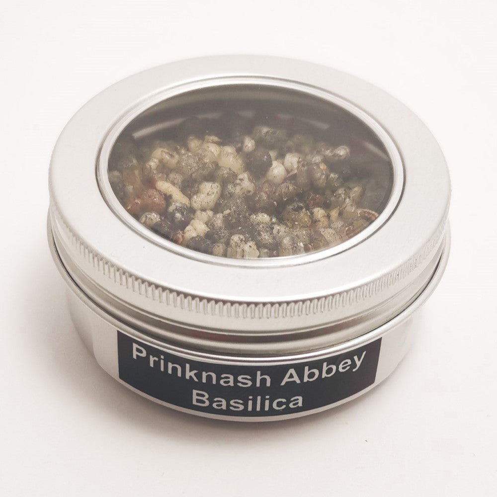 25g Round Tin Incense Church Resin to Burn on Charcoal | Choose your Resin Prinknash Abbey BASILICA Blessiah Resin Blessiah