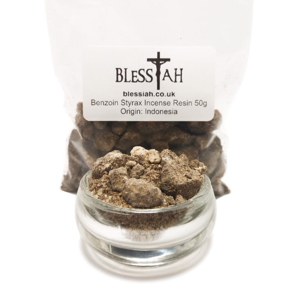 Benzoin Styrax Incense Resin Gum Natural Pure 50g  Blessiah Resin Blessiah