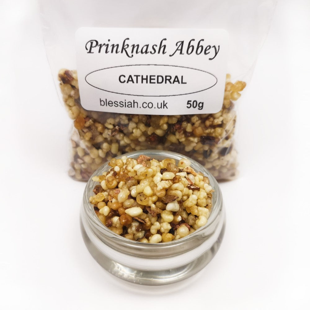 CATHEDRAL Prinknash Abbey Incense Church Resin Granules for use with Charcoal 50g  Prinknash Incense Resin Blessiah