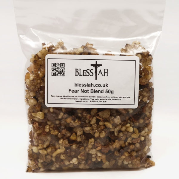 FEAR NOT Blend Incense Resin with Frankincense Myrrh Benzoin 50g