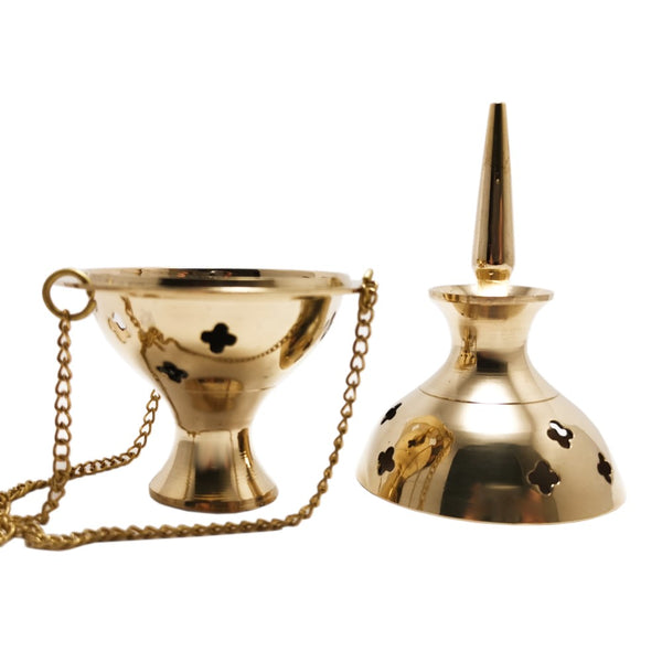 Hanging Incense Resin Brass Charcoal Burner Thurible with Lid 13.5 cm  Blessiah Incense Resin Burner Blessiah