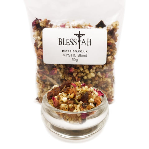 MYSTIC Blend Incense Resin with Frankincense and Myrrh 50g  Blessiah Resin Blessiah