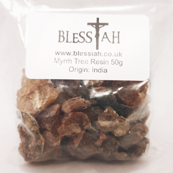 Myrrh Incense Church Resin for use with charcoal 50g  Blessiah Resin Blessiah