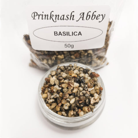 BASILICA Prinknash Abbey Incense Church Resin Granules for use with Charcoal 50g  Prinknash Incense Resin Blessiah