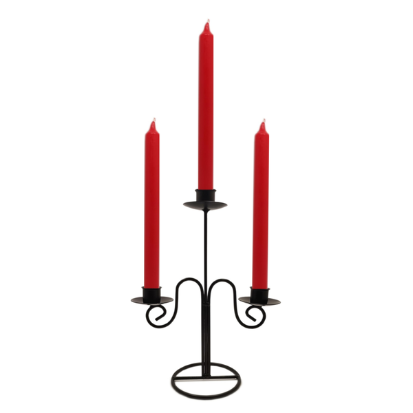 Quality Non-drip Dining Bistro Candles 21 cm RED  Blessiah Candles Blessiah
