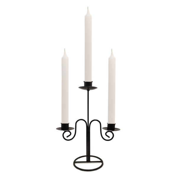 Quality Non-drip Dining Bistro Candles 21 cm WHITE  Blessiah Candles Blessiah