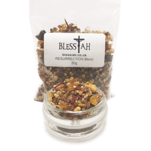 RESURRECTION Blend Incense Resin with Frankincense and Benzoin 50g  Blessiah Resin Blessiah