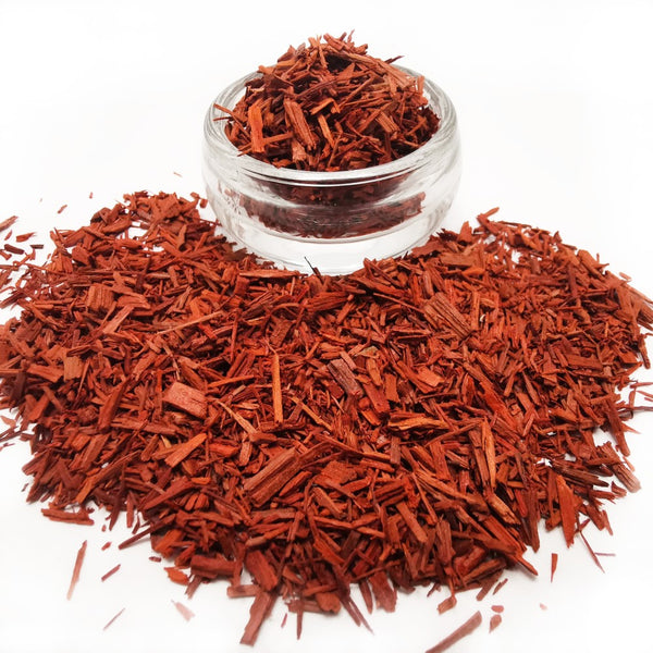Red Indian Sandalwood Chips for use as Incense on Charcoal Discs 25g  Blessiah Incense Blessiah