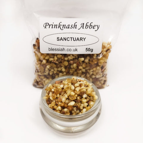 SANCTUARY Prinknash Abbey Incense Church Resin Granules for use with Charcoal 50g  Prinknash Incense Resin Blessiah