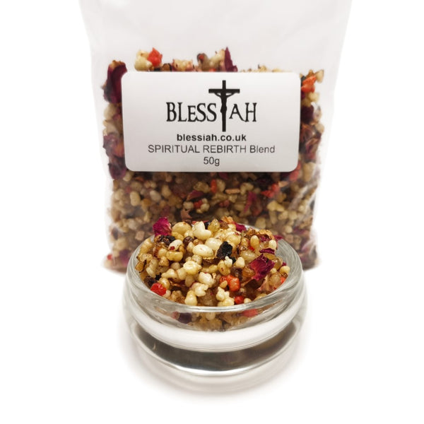 SPIRITUAL REBIRTH Blend Incense Resin with Frankincense and Styrax 50g  Blessiah Resin Blessiah