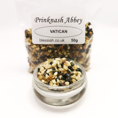 VATICAN Prinknash Abbey Incense Church Resin Granules for use with Charcoal 50g  Prinknash Incense Resin Blessiah
