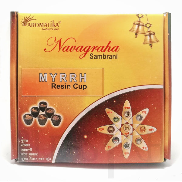 MYRRH Ready to Use Resin Charcoal Cups - Box of 12  Aromatika Resin Blessiah
