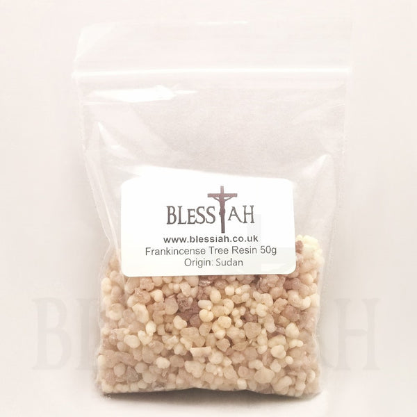 Frankincense Incense Church Resin for use with charcoal 50g  Blessiah Resin Blessiah