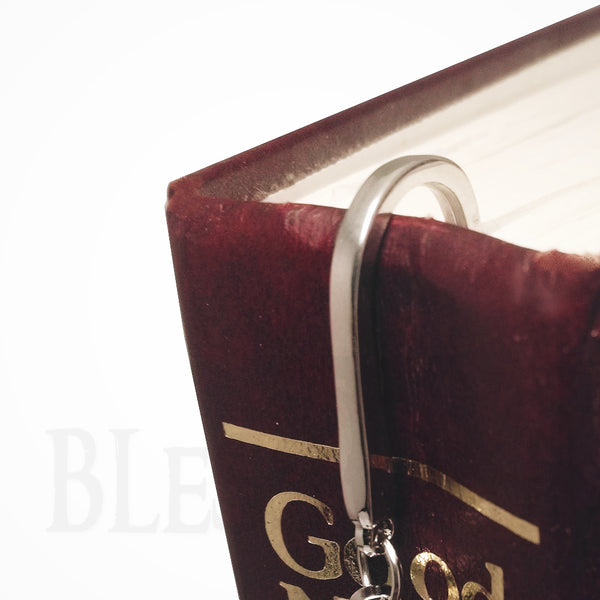 Jesus Cross Pendant Metal Bible Book Bookmark  Blessiah Bookmarks Blessiah