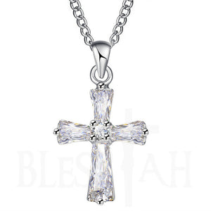 Women's Small Cross Pendant with Box Silver Blessiah Pendant Blessiah