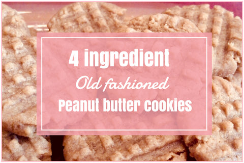 4 Ingredient old fashioned peanut butter cookies