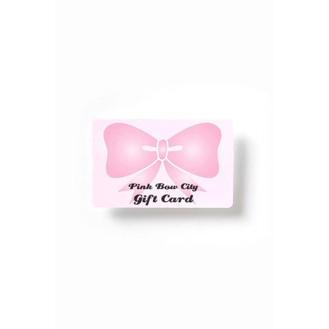 Pink Bow City Gift Card