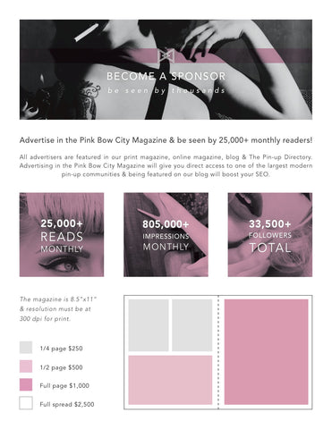 Pink Bow City Magazine-  Advertise in the Magazine, Blog or Website!